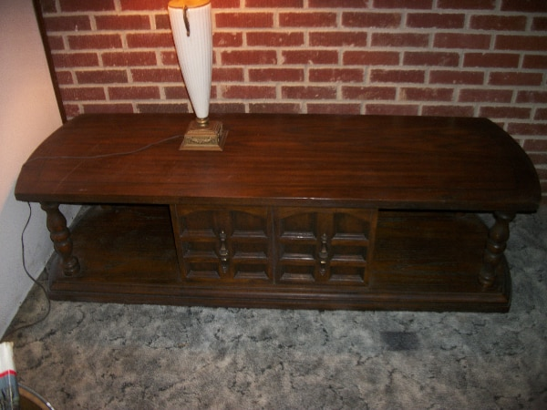 Solid Distressed Oak Coffee Table