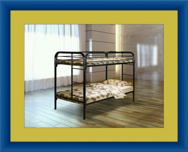 Twin bunk bed frame with mattress all right