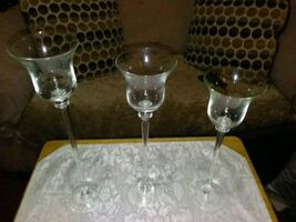 3 Glasses/Candle stick holders.