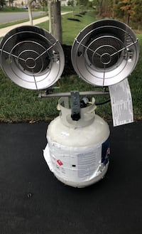 Space heater propane attachment with tank. Aldie, 20105