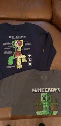 MINECRAFT, size L, (12) long and short sleeve t's Derry, 03038