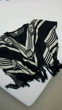Beautiful black and ivory Women's poncho Mississauga