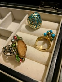 Fashion rings gold and silver plated various designs Los Angeles, 90012