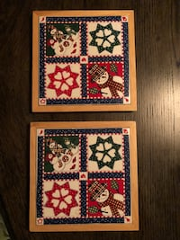 """2- Christmas trivets 7"""" wide Mooresville, 28117"""