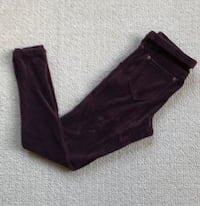 Deep Brown Corduroy Leggings Women's Medium Petite