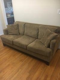 brown suede 3-seat sofa Arlington, 22201