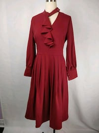 NWOT  Ladies red midi dress with ruffles size 6 Markham, L6C 0L5