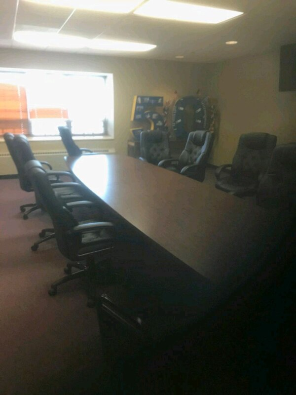 16 foot conference table and chairs