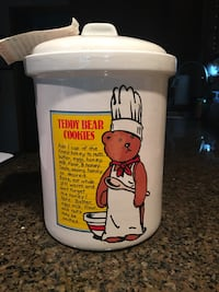 Vintage teddy bear Recipe cookie Jar