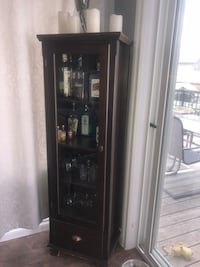 black wooden framed glass display cabinet Spruce Grove, T7X 0C3