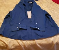 blue button-up long sleeve shirt Decatur, 30034