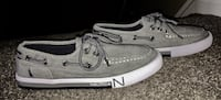 """BRAND NEW - Youth size 4Y """"Nautica"""" brand new grey white navy loafers Edmonton, T5A"""