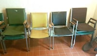 4 metal framed armchairs/ waiting room chairs North York, M2M