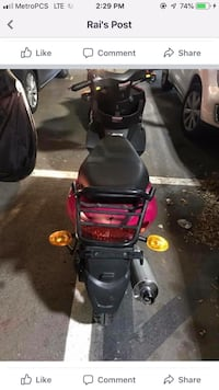 black and red motor scooter Silver Spring, 20910