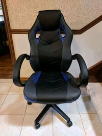 Gaming Chair, blue and black