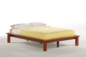 Basic Full Platform Style Bed  ** Solid Wood Construction **