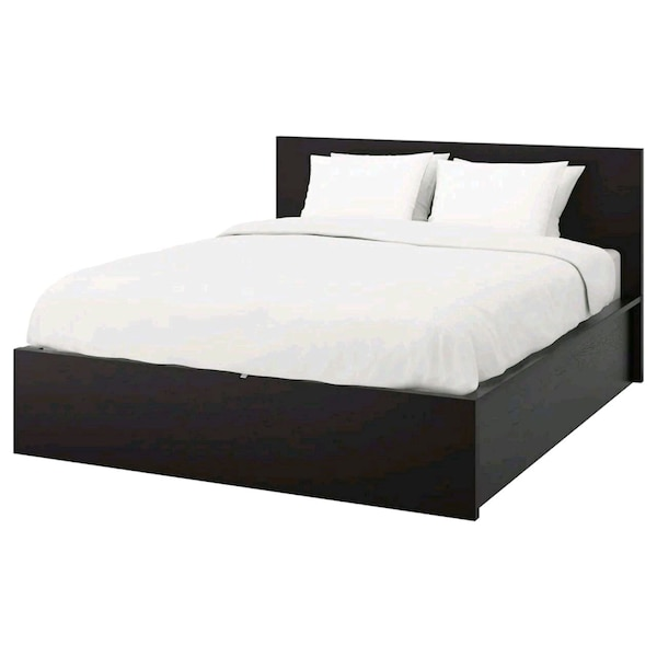 Ikea Queen Size Malm Slatted 4 Drawer Storage Bed