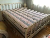 Rustic white bed with headboard and mattress  San Jose, 95129