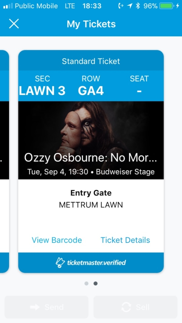Ozzy/stone sour tickets 09/18/18
