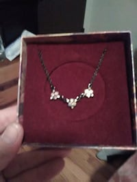 silver-colored necklace with pendant Eugene, 97402