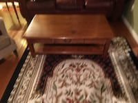 rectangular brown wooden coffee table Blakely, 18452