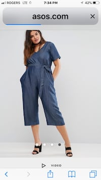 women's blue capri jumpsuit screenshot Brampton, L6X 2T8