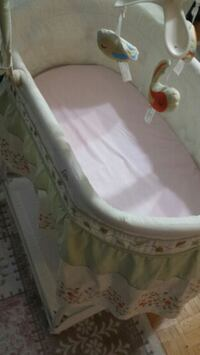 baby's white and gray bassinet Toronto, M1R 1W2