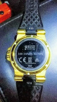 round gold-colored digital watch with link bracelet Waterloo, 29384