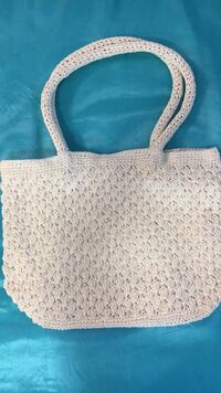 White beach bag . Shoulder bag