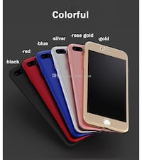 Iphone 7 plus and iPhone 8 cases with tempered glass screen cover