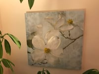 white and green flower painting Leesburg, 20175