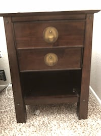 2 dark brown PIER IMPORTS nightstands Camarillo, 93012