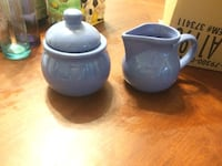 two purple ceramic teapot and container with lid Ellicott City, 21043
