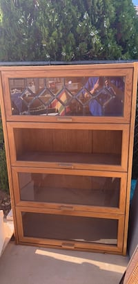 Legal library book case. Needs some work. Apple Valley, 92307