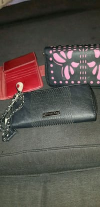 black and red leather wallet. All 3 for 12$ St. Catharines, L2M 4G1