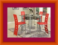 Red Counter height table with 4 chairs  Gaithersburg