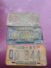 Old licens plates 5 bucks each Spurgeon, 47584