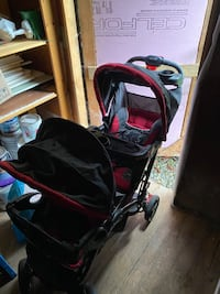Sit N' Stand Double Stroller Stand two Car Seat Twins Travel System  North Vancouver, V7K 1P2