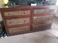 Long dresser and night stand