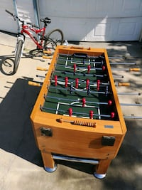 brown and black foosball table Lockport, R1A 2S3