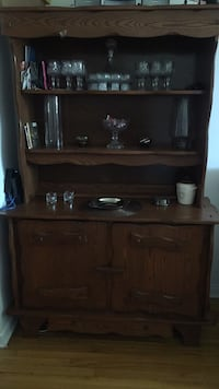 brown wooden desk with hutch Brossard, J4Y 2J6