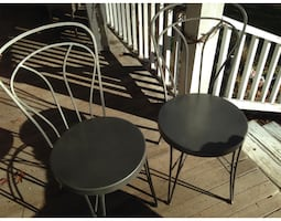 2-Chairs ,Heavy duty Chairs wrought iron