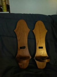 pair of brown wooden candle sconces Columbus, 43232
