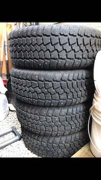 Studded Winter Tires on Rims