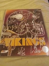 team signed Minnestota Vikings Las Vegas, 89121