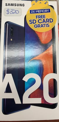 Brand new Samsung A20 with free 32GB memory card 1 year warranty Toronto, M2M