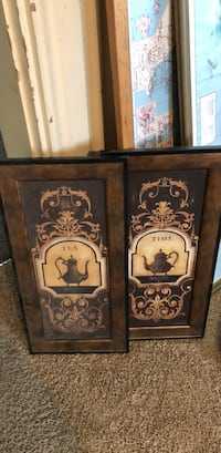 two brown wooden framed paintings Hamilton, 45014