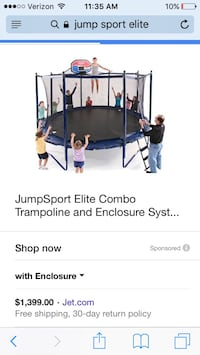 Black outdoor large trampoline San Jose, 95127