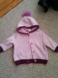 pink and purple button up hoodie 3-6M Woodbridge, 22193