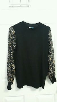 black and white floral long sleeve shirt Nashville, 37211
